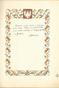 księga pamiątkowa Mościcki