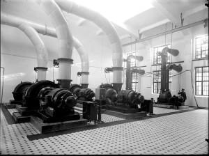 Budynek generatorów gazu - hala dmuchaw