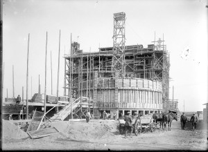 Budowa wytwórni saletry wapniowej 1930