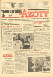 """Strona tytułowa """"Tarnowskich Azotów"""" 1982"""