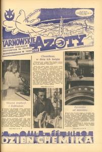 """Strona tytułowa """"Tarnowskich Azotów"""" 1986"""