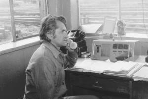 Dyspozytorka w zakładzie kolejowym
