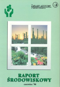 Okładka Raportu Środowiskowego 1998