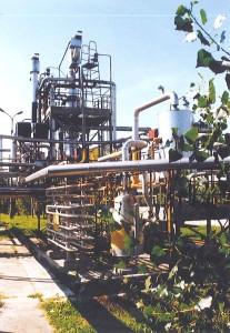 Instalacja absorpcji par benzenu