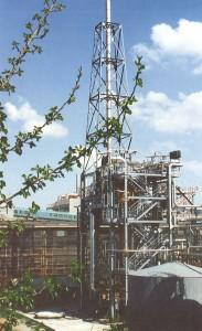 Instalacja katalitycznego dopalania odgazów w wytwórni kaprolaktamu