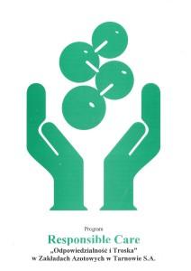 Strona tytułowa programu Responsible Care w ZAT
