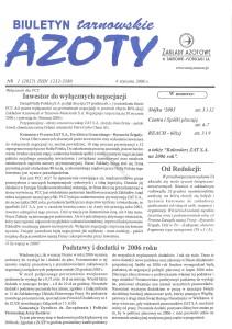 """Strona tytułowa """"Tarnowskich Azotów"""" 2006"""